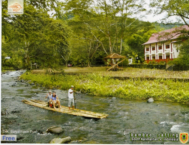 Francis, in Indonesia, told us about bamboo rafting, their  traditional river transportation.
