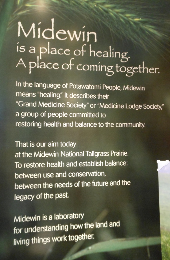 Midewin, in the language of the Potawatomi People means 'healing.'